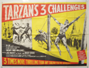 TARZAN'S THREE CHALLENGES Cinema Quad Movie Poster