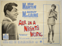 ALL IN A NIGHT'S WORK Cinema Quad Movie Poster