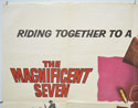 THE MAGNIFICENT SEVEN / RETURN OF THE SEVEN (Top Left) Cinema Quad Movie Poster