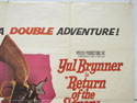 THE MAGNIFICENT SEVEN / RETURN OF THE SEVEN (Top Right) Cinema Quad Movie Poster