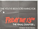 FRIDAY 13TH : THE FINAL CHAPTER (Top Right) Cinema Quad Movie Poster