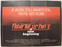 Friday The 13th Part V : A New Beginning