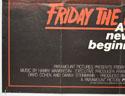 FRIDAY 13TH : PART V (Bottom Left) Cinema Quad Movie Poster