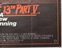 FRIDAY 13TH : PART V (Bottom Right) Cinema Quad Movie Poster