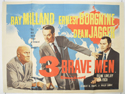 3 BRAVE MEN Cinema Quad Movie Poster