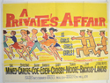A PRIVATE'S AFFAIR Cinema Quad Movie Poster