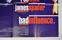 BAD INFLUENCE (Bottom Right) Cinema Quad Movie Poster