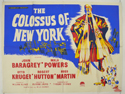 COLOSSUS OF NEW YORK Cinema Quad Movie Poster