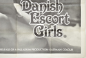 DANISH ESCORT GIRLS (Bottom Right) Cinema Quad Movie Poster