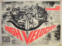 HIGH VELOCITY Cinema Quad Movie Poster