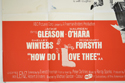 HOW DO I LOVE THEE (Bottom Left) Cinema Quad Movie Poster