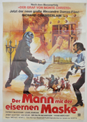 Man In The Iron Mask (The) <p><i> (German Movie Poster) </i></p>
