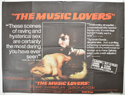 THE MUSIC LOVERS Cinema Quad Movie Poster
