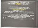 THE FINAL CONFLICT (Bottom Left) Cinema Quad Movie Poster