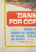 CANNON FOR CORDOBA (Bottom Left) Cinema One Sheet Movie Poster