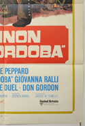 CANNON FOR CORDOBA (Bottom Right) Cinema One Sheet Movie Poster