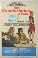 COUNTERFEITERS OF PARIS Cinema One Sheet Movie Poster