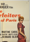 COUNTERFEITERS OF PARIS (Top Right) Cinema One Sheet Movie Poster