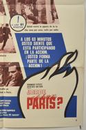 IS PARIS BURNING (Bottom Right) Cinema One Sheet Movie Poster