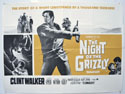 THE NIGHT OF THE GRIZZLY Cinema Quad Movie Poster