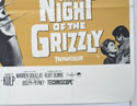 THE NIGHT OF THE GRIZZLY (Bottom Right) Cinema Quad Movie Poster