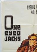 ONE-EYED JACKS (Top Left) Cinema One Sheet Movie Poster