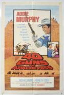 40 GUNS TO APACHE PASS Cinema One Sheet Movie Poster