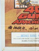 40 GUNS TO APACHE PASS (Bottom Left) Cinema One Sheet Movie Poster