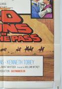 40 GUNS TO APACHE PASS (Bottom Right) Cinema One Sheet Movie Poster