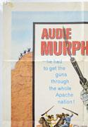 40 GUNS TO APACHE PASS (Top Left) Cinema One Sheet Movie Poster