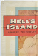 HELL'S ISLAND (Top Left) Cinema One Sheet Movie Poster