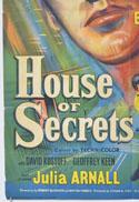 HOUSE OF SECRETS (Bottom Left) Cinema One Sheet Movie Poster