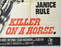 KILLER ON A HORSE (Bottom Right) Cinema Quad Movie Poster