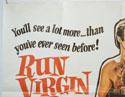 RUN VIRGIN RUN - THE SEX SEEKERS (Top Left) Cinema Quad Movie Poster