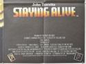 STAYING ALIVE (Bottom Right) Cinema Quad Movie Poster