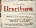 HEARTBURN (Bottom Right) Cinema Quad Movie Poster