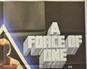 A FORCE OF ONE (Top Right) Cinema Quad Movie Poster