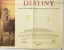 A TIME OF DESTINY (Bottom Right) Cinema Quad Movie Poster