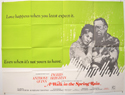 A WALK IN THE SPRING RAIN Cinema Quad Movie Poster
