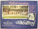 A WEDDING Cinema Quad Movie Poster