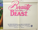 BEAUTY AND THE BEAST (Bottom Right) Cinema Quad Movie Poster