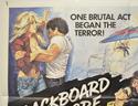 BLACKBOARD MASSACRE / CIRCLE OF FEAR (Top Left) Cinema Quad Movie Poster