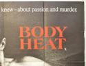 BODY HEAT (Top Right) Cinema Quad Movie Poster