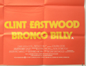 BRONCO BILLY (Bottom Right) Cinema Quad Movie Poster