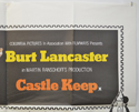 CASTLE KEEP (Top Right) Cinema Quad Movie Poster