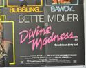 DIVINE MADNESS (Bottom Right) Cinema Quad Movie Poster