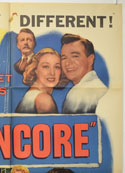 ENCORE (Top Right) Cinema One Sheet Movie Poster