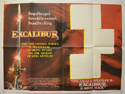 EXCALIBUR Cinema Quad Movie Poster