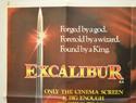 EXCALIBUR (Top Left) Cinema Quad Movie Poster
