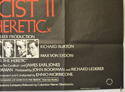 EXORCIST II : THE HERETIC (Bottom Right) Cinema Quad Movie Poster